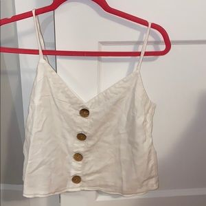 White Tank top with Buttons
